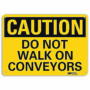 Safety Sign,Do Not Walk,10in.H