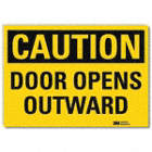 Caution: Door Opens Outward Signs