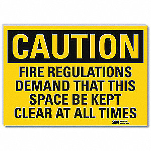 Safety Sign,Self-Adhesive,7in.H x 10in.W