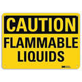 "Chemical, Gas or Hazardous Materials, Caution, Aluminum, 7"" x 10"", With Mounting Holes, Engineer"