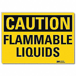 Safety Sign,Flammable Liquids,5in.H