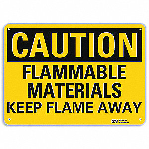 Safety Sign,Keep Flame Away,10in.H