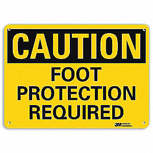 Safety Sign,Foot Protection,7in.H