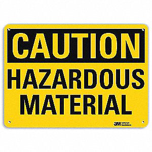 Safety Sign,Hazardous Material,7in.H
