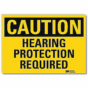 Safety Sign,Hearing Protection,10in.W
