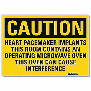 Safety Sign,Ovn Cause Interference,10inW
