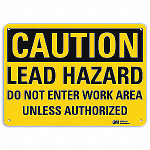Safety Sign,Lead Hazard,10in.H