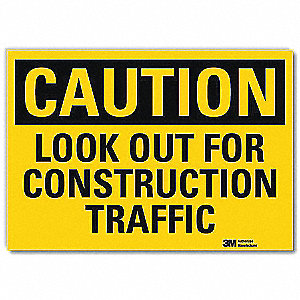 Safety Sign,Look Out Forklifts,5in.H