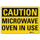 Caution: Microwave Oven In Use Signs