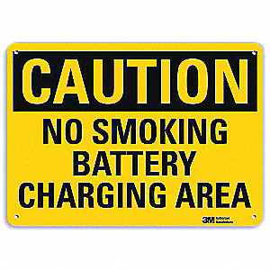 No Smoking Battery Charging Area Electrical Warning Signs Safety