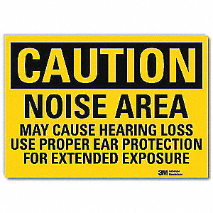Safety Sign,Use Ear Protection,14 in. W
