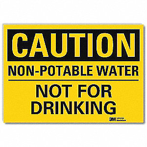 Safety Sign,Water Not For Drinking,10inW