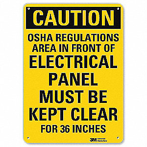 Safety Sign,Must Be Kept Clear,10 in. H