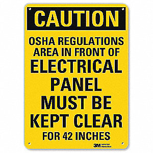"Electrical Hazard, Caution, Aluminum, 10"" x 7"", With Mounting Holes, Engineer"