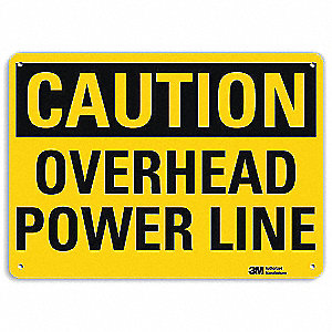 "Electrical Hazard, Caution, Aluminum, 10"" x 14"", With Mounting Holes, Engineer"