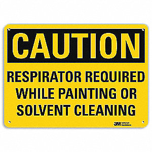 Safety Sign,Respirator Required,10 in. H