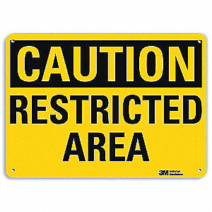 "Authorized Personnel and Restricted Access, Caution, Recycled Aluminum, 7"" x 10"""