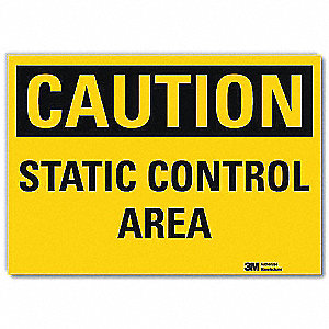 "Electrical Hazard, Caution, Vinyl, 10"" x 14"", With Mounting Holes, Engineer"