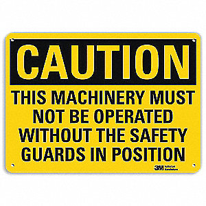 Safety Sign,Must Not Be Operated,7 in. H