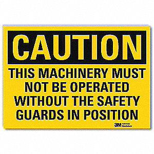 Safety Sign,Must Not Be Operated,5 in. H