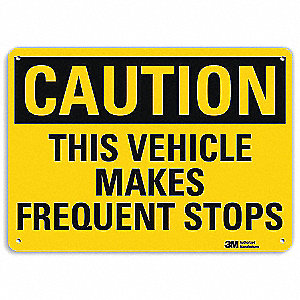 "Road Traffic Control, Caution, Recycled Aluminum, 10"" x 14"", With Mounting Holes, Engineer"