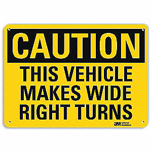 "Safety Sign,7""H,10""W,Aluminum"