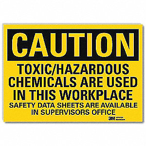 Safety Sign,Safety Data Sheets,14 in. W