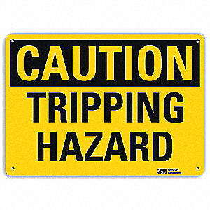 Safety Sign,Tripping Hazard,10 in. H