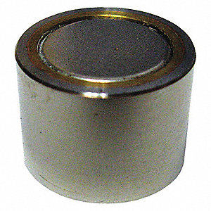 Shielded Magnet,Neodymium,6lb Pull,3/8in