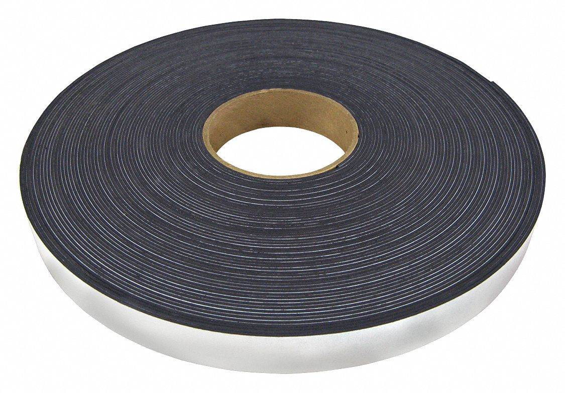 Flexible Magnetic Rolls,  Indoor Adhesive,  8.85 lb Max. Pull,  100 ft Length,  3/4 in Width