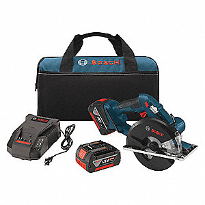 "5-3/8"" Cordless Circular Saw Kit, 18.0 Voltage, 4250 No Load RPM, Battery Included"