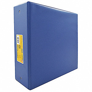 "3"" 3-Ring Binder, Blue, 575-Sheet Capacity"