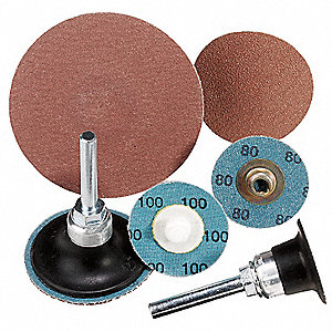 "2"" Coated Quick Change Disc, TR Roll-On/Off Type 3, 60, Coarse, Zirconia Alumina, 1 EA"