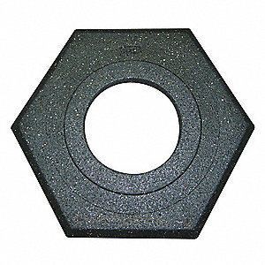"Channelizer Cone Base, Black, 17"" x 20"" x 2-1/2"", 10 lb., Recycled Rubber"