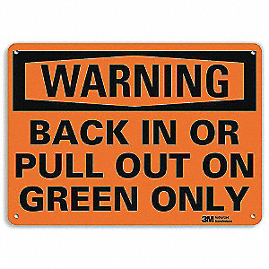 "Road Traffic Control, Warning, Recycled Aluminum, 7"" x 10"", With Mounting Holes, Engineer"