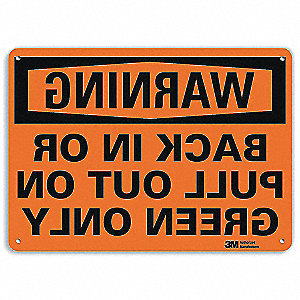 "Road Traffic Control, Warning, Recycled Aluminum, 10"" x 14"", With Mounting Holes, Engineer"
