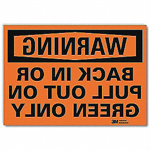 "Warning Sign,10""H,14""W,Vinyl"