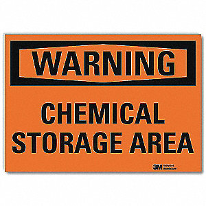 Warning Sign,Chemical Storage Area,14inW