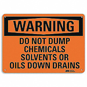 "Cleaning and Maintenance, Warning, Recycled Aluminum, 10"" x 14"", With Mounting Holes, Engineer"