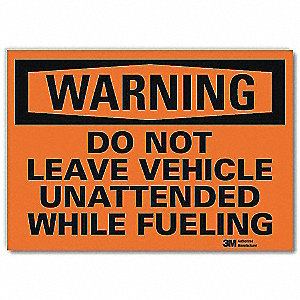 "Security and Surveillance, Warning, Vinyl, 5"" x 7"", Adhesive Surface, Engineer"