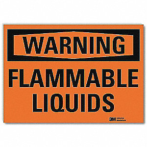"Chemical, Gas or Hazardous Materials, Warning, Vinyl, 7"" x 10"", Surface, Engineer"