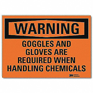 Warning Sign,Goggles Are Required,14in W