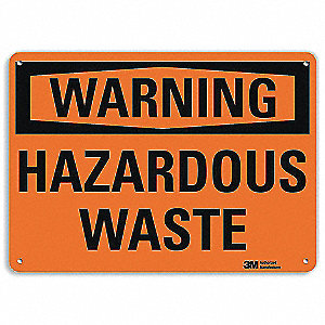 "Chemical, Gas or Hazardous Materials, Warning, Aluminum, 7"" x 10"", Surface, Engineer"