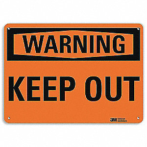 "Keep Clear, Warning, Recycled Aluminum, 10"" x 14"", With Mounting Holes, Engineer"