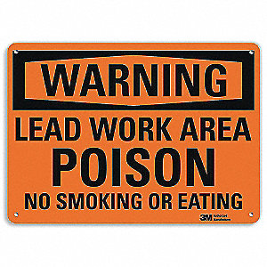 Warning No Smoking Sign,Surface,14 in. W