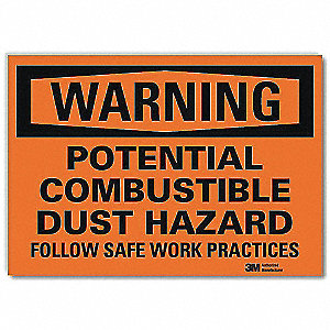 "Chemical, Gas or Hazardous Materials, Warning, Vinyl, 5"" x 7"", Surface, Engineer"