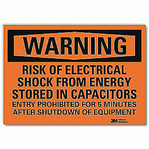 "Electrical Hazard, Warning, Vinyl, 10"" x 14"", Surface, Engineer"