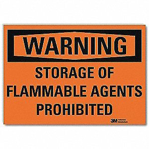 Warning Sign,Storage Prohibited,5 in. H