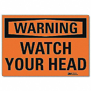 "Overhead Clearance, Warning, Vinyl, 5"" x 7"", Surface, Engineer"