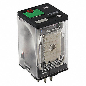 24VDC, 11-Pin Octal Base General Purpose Plug-In Relay&#x3b; AC Contact Rating: 10A @ 277V